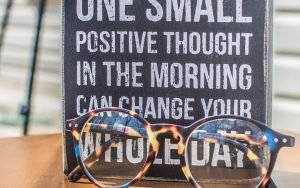 quote and glasses