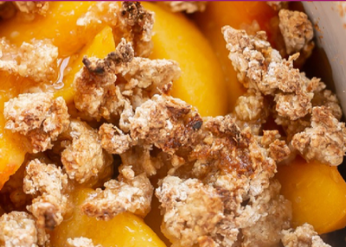 easy peach crumble