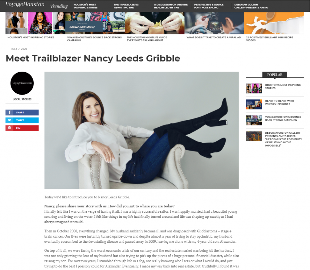 nancy leeds gribble voyage trailblazer
