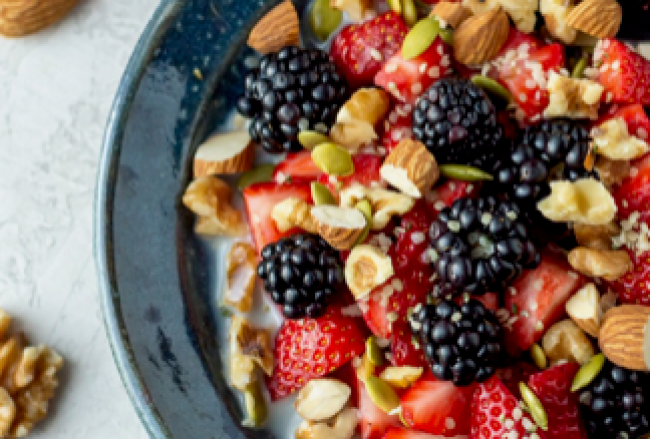 2berry and nut bowl
